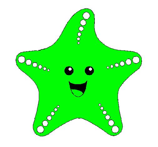 Dibujo de Estrella de mar pintado por Fabian12345 en Dibujosnet