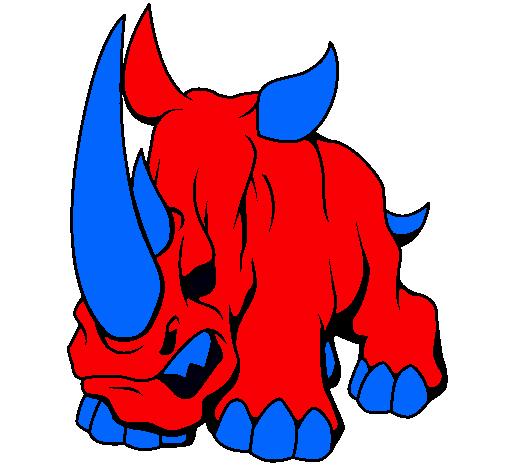 Dibujo de Rinoceronte II pintado por Chido en Dibujos.net el día ...