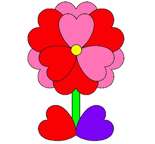 Dibujo De Flor De Corazones Pintado Por 1234eatefi En Dibujos Net El