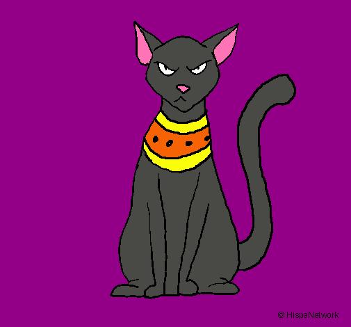 Dibujo de Gato egipcio pintado por Edurnita32 en Dibujos.net el ...