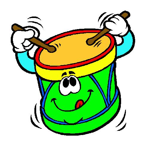 Dibujo de tambor pintado por pumpumpum en el - Dibujos infantiles para imprimir pintados ...