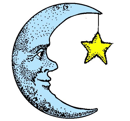 dibujo luna: