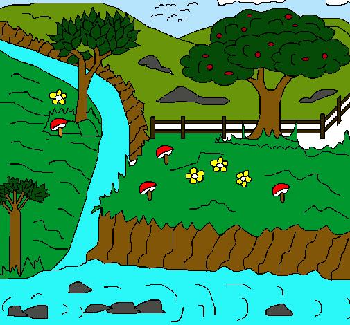 Dibujo de Paisaje rural pintado por Mvalencia en Dibujosnet el