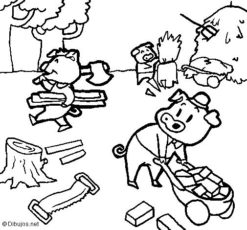 Dibujo de Los tres cerditos 1 pintado por Julioomar en Dibujos.net ...