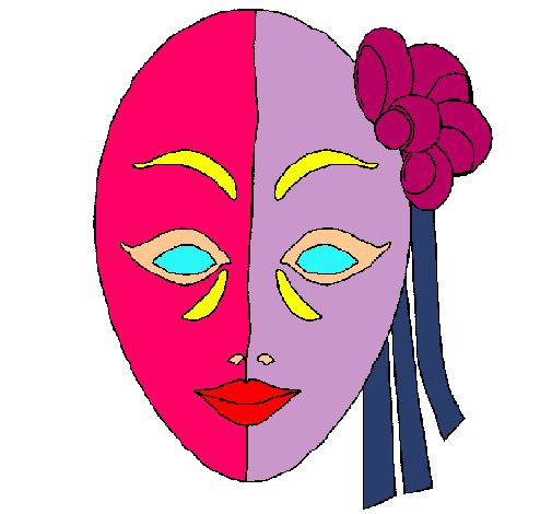Dibujo de Mscara italiana pintado por Careta en Dibujosnet el