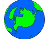 Dibujo Planeta Tierra pintado por user