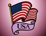 Dibujo Bandera de los Estados Unidos pintado por Laaaauraaa