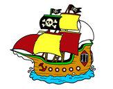 Dibujo Barco pirata pintado por Silvio