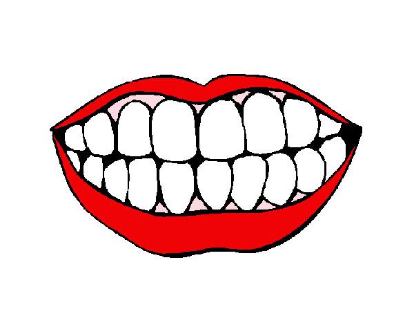 Dibujo de boca sana pintado por Txanahy en Dibujosnet el da 26