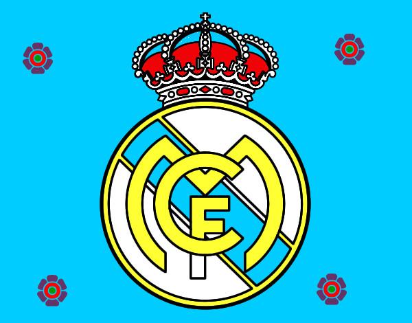 Dibujos Para Colorear Escudo Real Madrid: Dibujo De Escudo Del Real Madrid C.F. Pintado Por Pablo_hm