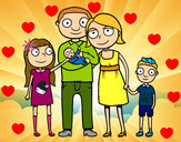 Dibujo Familia unida pintado por Haydesita