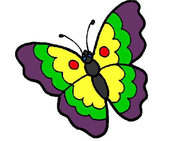 Dibujos De Mariposas Infantiles A Color: Dibujo De La Mariposa Colorida Pintado Por Davalos En