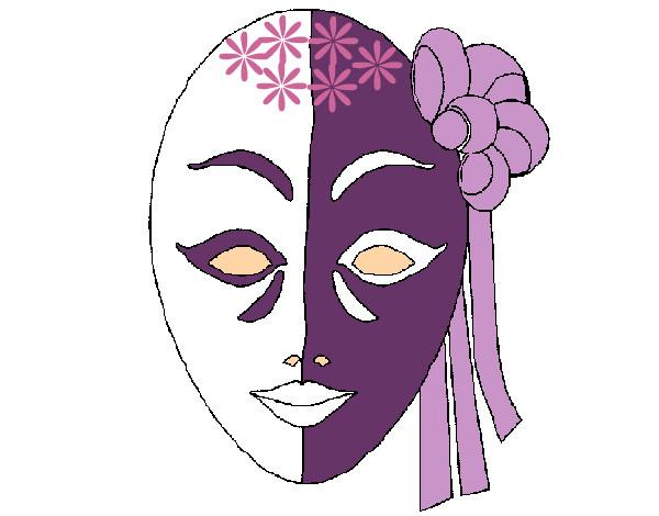 Dibujo De Máscara Italiana Pintado Por Kiki8428 En Dibujosnet El