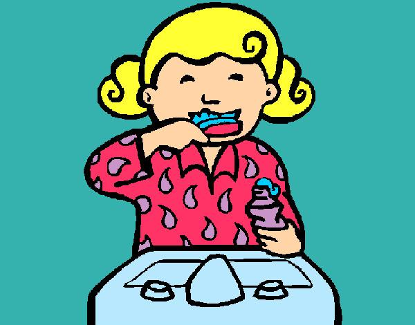 Dibujo de dientes muy sanos pintado por Txanahy en Dibujosnet el