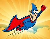 Dibujo Súper héroe volando pintado por antolakim