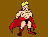 Dibujo Superhéroe musculado pintado por PEPITAYO5