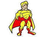 Dibujo Superhéroe musculado pintado por wanderlis