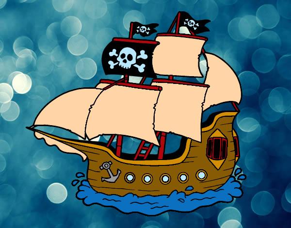 Como dibujar un barco pirata infantil imagui - Piratas infantiles imagenes ...