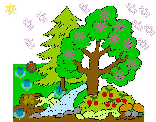 Dibujo de la naturaleza pintado por Karenmelis en Dibujosnet el