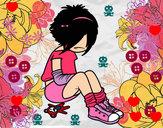 Dibujo Chica EMO pintado por Bryna
