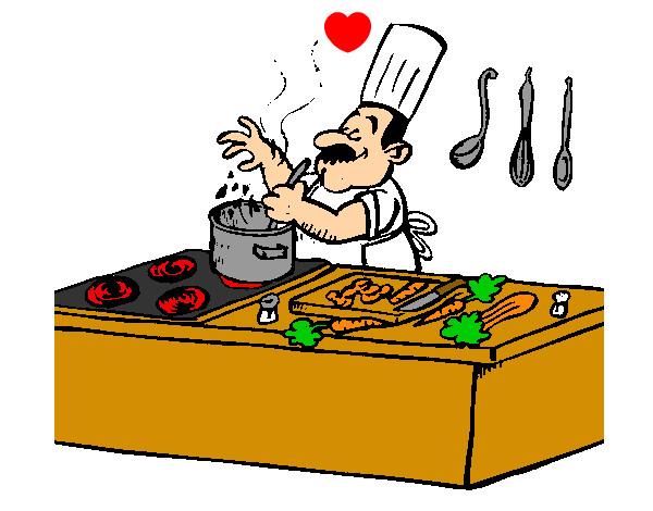 Dibujo de el cocinero pintado por elias45865 en dibujos for La cocina de dibujos pdf