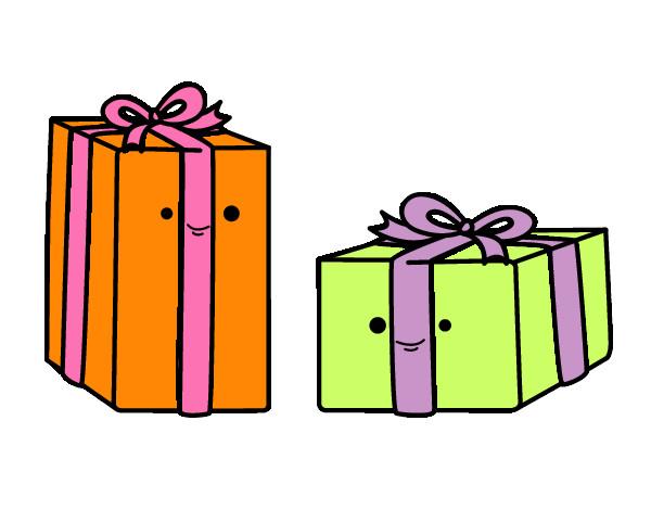 Dibujo de regalos de amiel pintado por Cokie en Dibujosnet el da