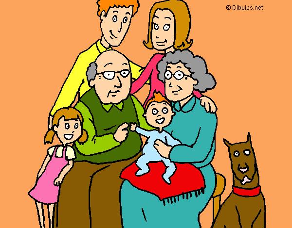 Worksheet. Dibujo de Retrato Familiar pintado por Ana2019 en Dibujosnet el
