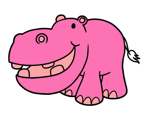 Dibujo de Hipopótamo pequeño pintado por Franciscam en Dibujos.net ...