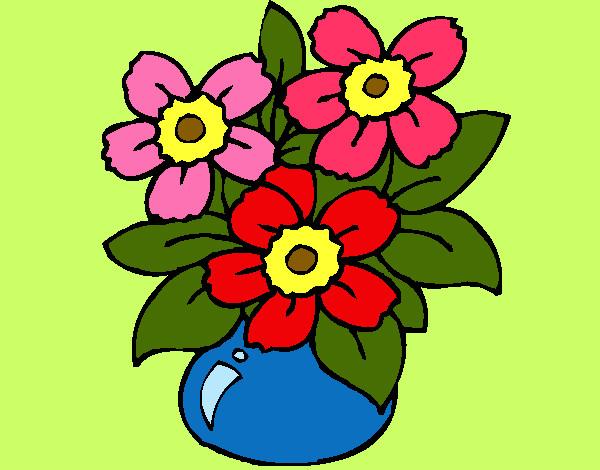 Dibujo de florero pintado por lamorales en el - Dibujos pintados en la pared ...