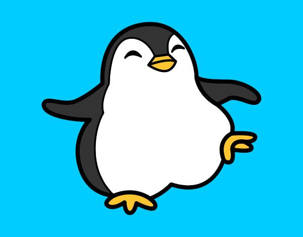 Dibujo de Pinguino Bebe pintado por Alberto en Dibujosnet el da