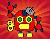 Dibujo Robot con antena pintado por adrian15