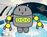 Dibujo Robot con pinzas pintado por iirrraa