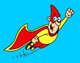 Dibujo Súper héroe volando pintado por Francisque