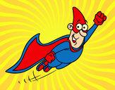 Dibujo Súper héroe volando pintado por marga79