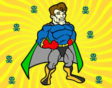 Dibujo Superhéroe musculado pintado por benjamin82