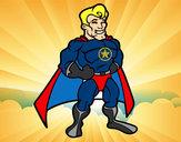 Dibujo Superhéroe musculado pintado por KATHIRA