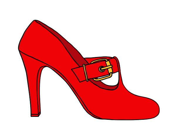 Dibujo de el zapato de la moda pintado por Judith99 en Dibujosnet