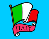 Dibujo Bandera de Italia pintado por miguelherm
