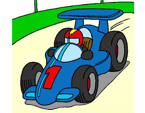 Dibujo de auto de carreras F1 pintado por Starmario en Dibujosnet