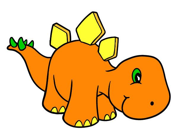 Dibujo de Estegosaurio bebé pintado por Joseip en Dibujos.net el ...