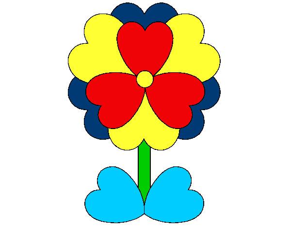 San Valentin Dibujos En Color: Imagenes De Flores De Dibujo A Color Dibujo De Flor De