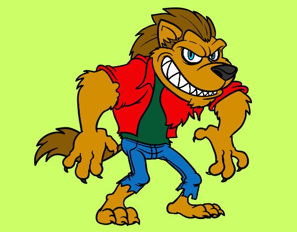 Dibujos de Hombres lobo para Colorear  Dibujosnet