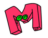 Dibujo Letra M pintado por MAR12