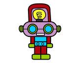 Dibujo Robot con luz pintado por Parejo