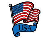 Dibujo Bandera de los Estados Unidos pintado por nati-love
