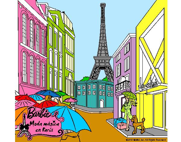 Torre Eiffel Dibujo Animado A Color: Dibujo De La Torre De Paris Para Colorear