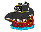 Dibujo Barco pirata pintado por alexrider