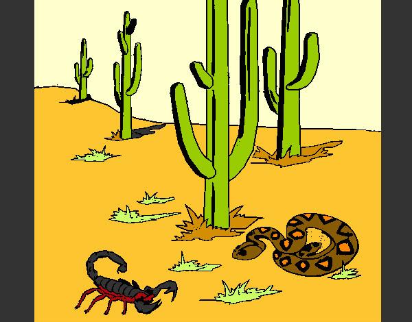 Dibujo de Desierto pintado por Ririchio en Dibujosnet el da 16