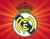 Dibujo Escudo del Real Madrid C.F. pintado por Laurapx7