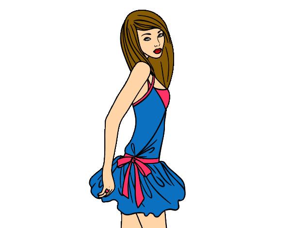 Dibujo De Tiana Y El Sapo Tiana Para Colorear: Dibujo De Modelo Pintado Por Tiana En Dibujos.net El Día